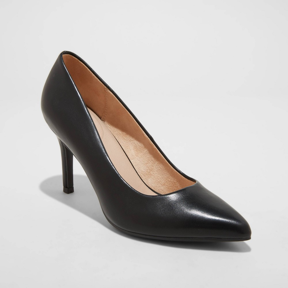 Women 39 S Gemma Wide Width Pointed Toe Heels A New Day 8482 Black 8 5w