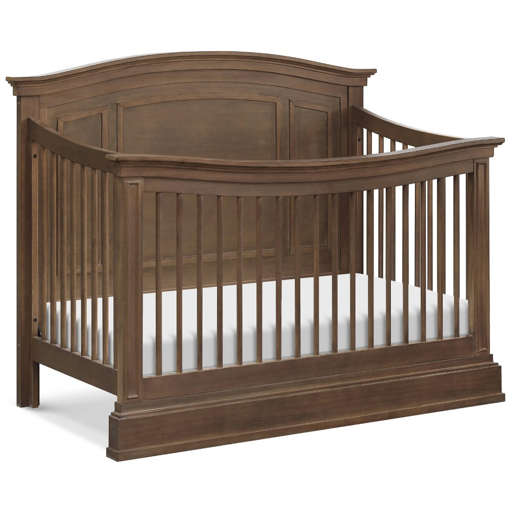 Image of Million Dollar Baby Classic Durham 4-in-1 Convertible Crib with Toddler Bed Conversion Kit - Mocha, Brown