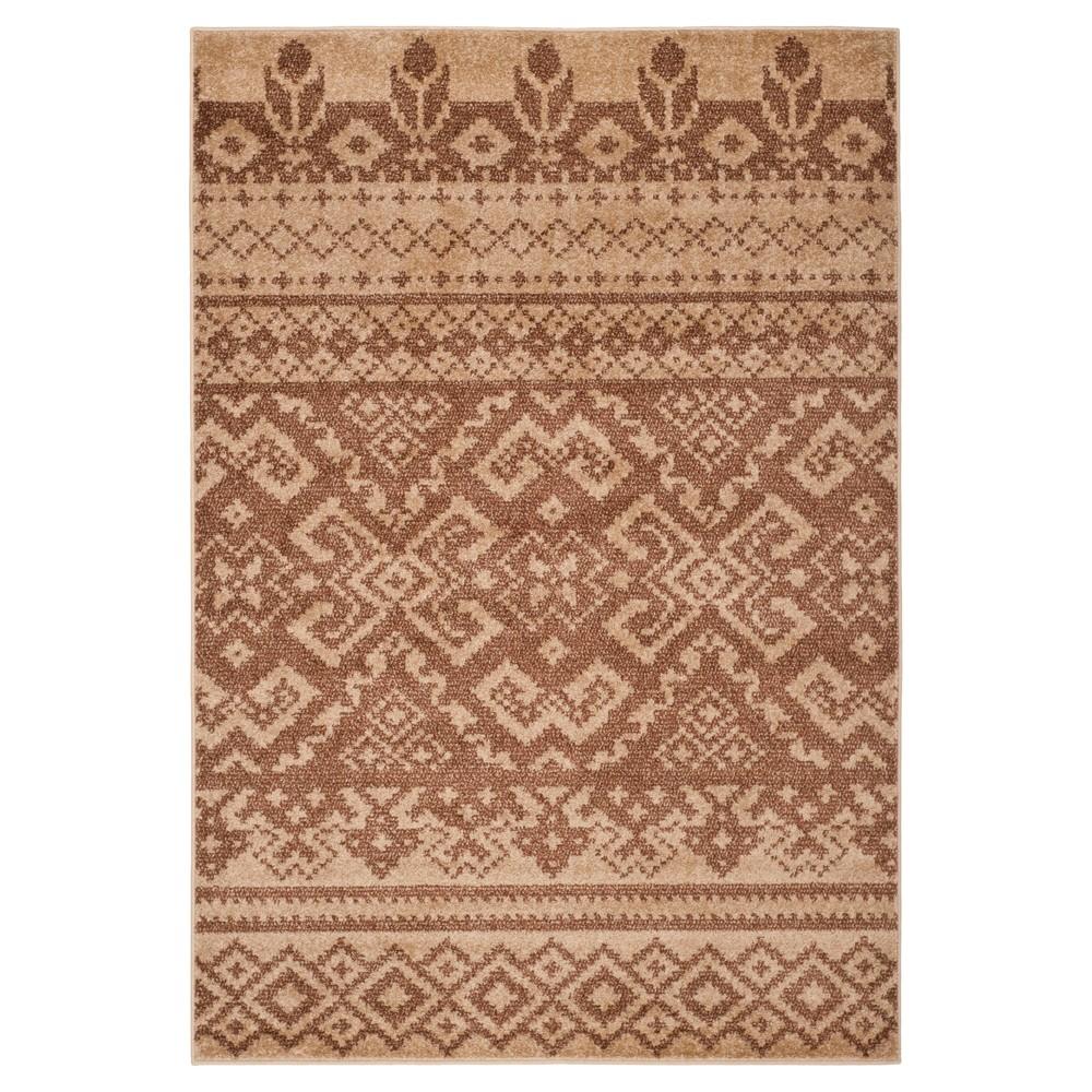 Adron Area Rug - Camel/Chocolate (Camel/Brown) (6'x9') - Safavieh