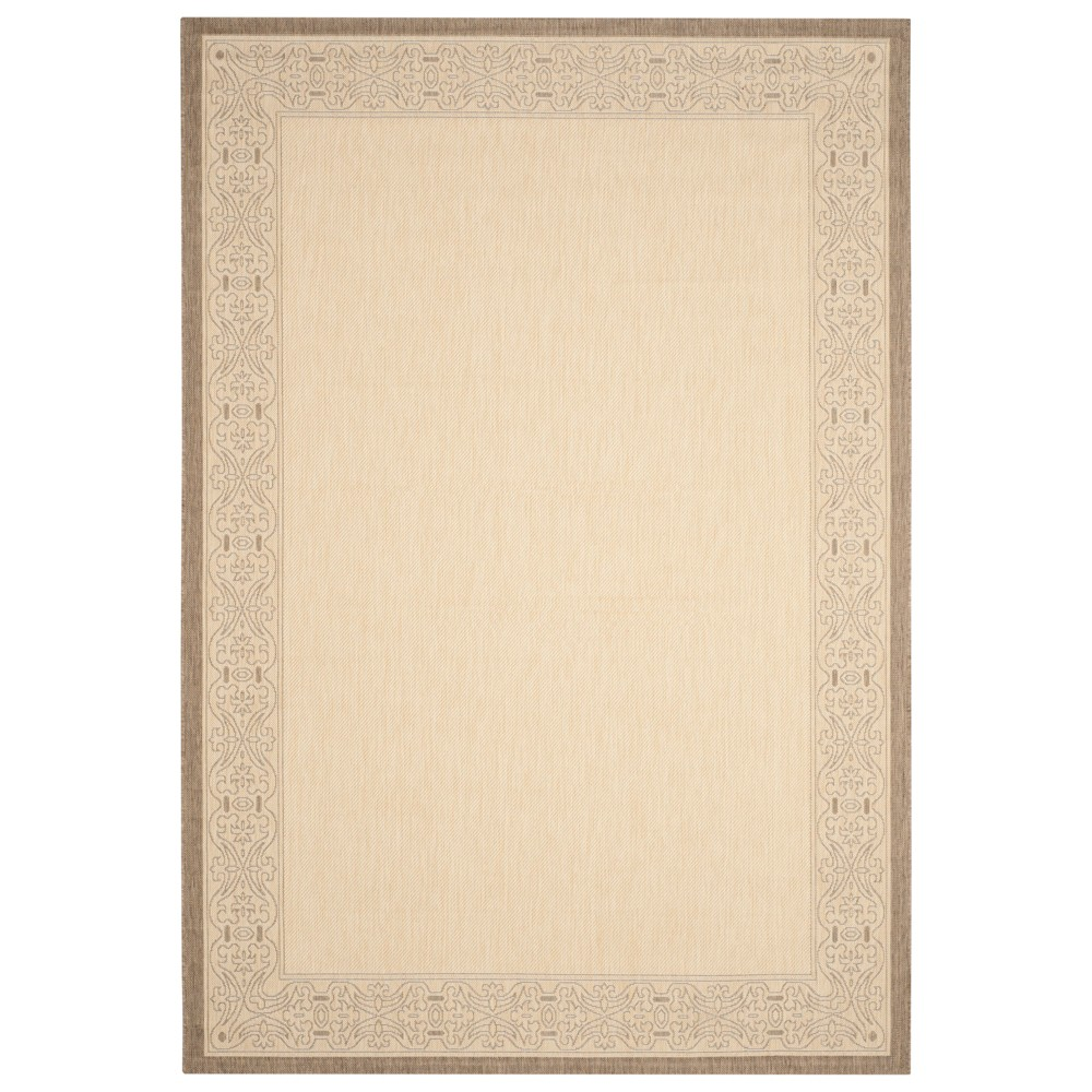 Antibes Rectangle 8' X 11' Border Outdoor Rug - Natural / Brown - Safavieh, Natural/Brown