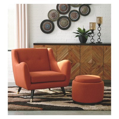 Menga Ottoman With Storage Adobe   Signature Design By Ashley : Target