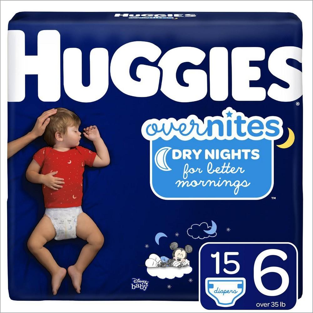 Huggies Overnites Diapers Jumbo Pack - Size 6 (15ct)