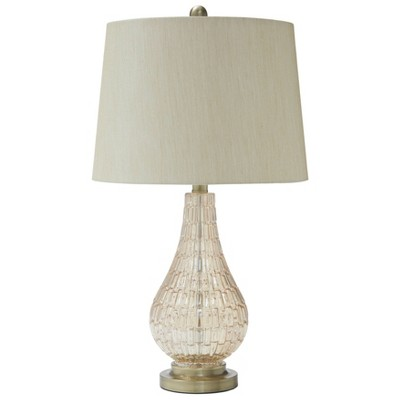 Latoya Glass Table Lamp Gold Shimmer - Signature Design by Ashley