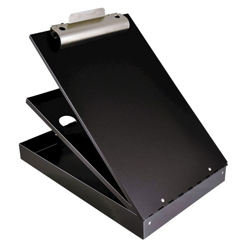 "Saunders 1"" Capacity Cruiser Mate Aluminum Storage Clipboard - Holds 8-1/2"" x 12"" - Black - image 1 of 1"