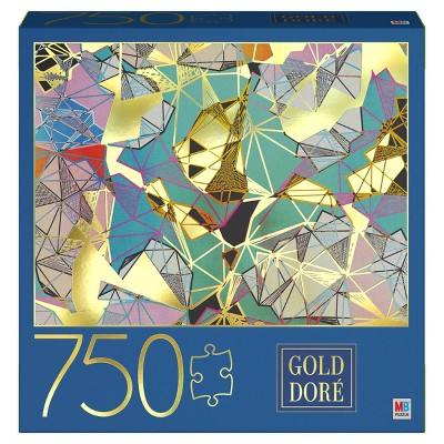 Milton Bradley Gold Foil Abstract: Geometric Elements Jigsaw Puzzle - 750pc