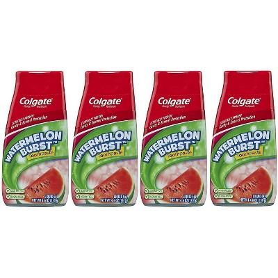 Colgate 2-in-1 Kids Toothpaste and Anticavity Mouthwash - Watermelon Burst - 4.6oz/4pk