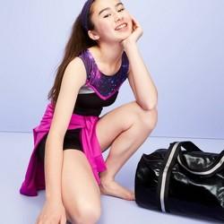 Girls' Galaxy Gymnastics Biketard - More Than Magic™ Purple