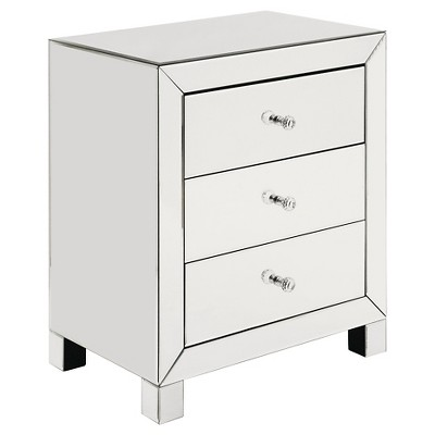 Abingdon Mirrored Accent Table Clear - Inspire Q