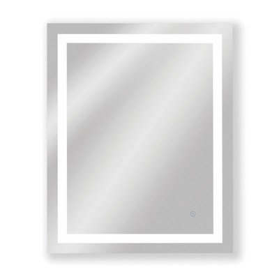 """24""""x30"""" Frameless Dimmable LED Wall Mirror with Anti Fog Glass - Tosca"""