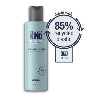 Planet KIND by Gillette Refreshing Face Wash with Cucumber & Vitamin E - 6.7 fl oz