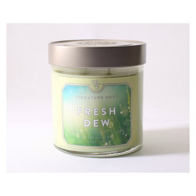 Glass Container Candle Fresh Dew 15.2oz - Signature Soy