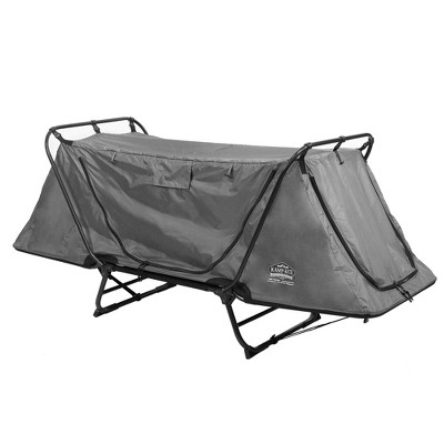 Kamp-Rite Original Portable Cot, Versatile Design Converts into Cot, Chair, or Tent w/ Easy Setup, Waterproof Rainfly & Carry Bag Included, Gray