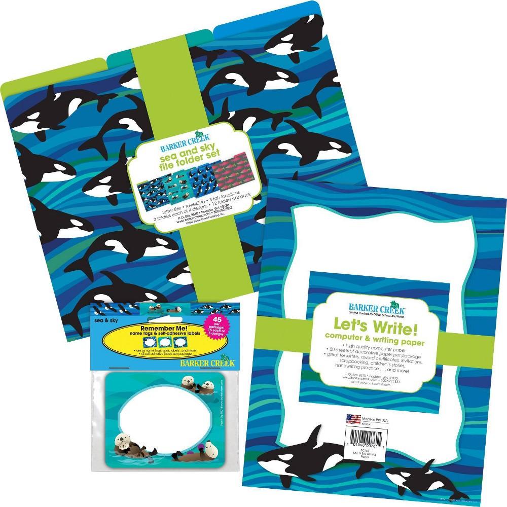 Barker Creek Get Organized File Folders Whales