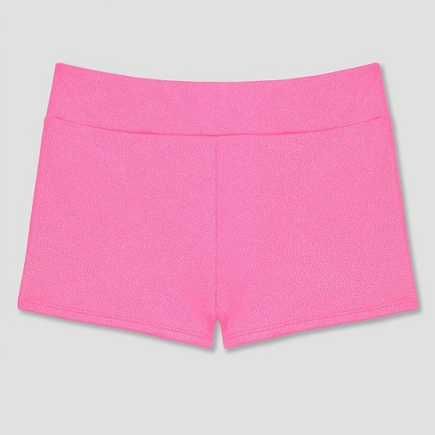 Freestyle By Danskin Girls' Activewear Shorts Bright Pink - image 1 of 2
