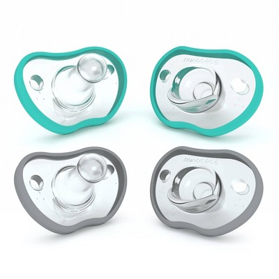 nanobebe 4pk Flexy Pacifier 0-3 Months - Teal/Gray
