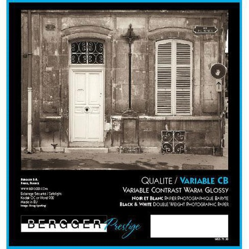Bergger Prestige Variable CB Glossy Warm Tone Black & White Baryta Paper, 280gm2, 16x20 , 25 Sheets - image 1 of 1