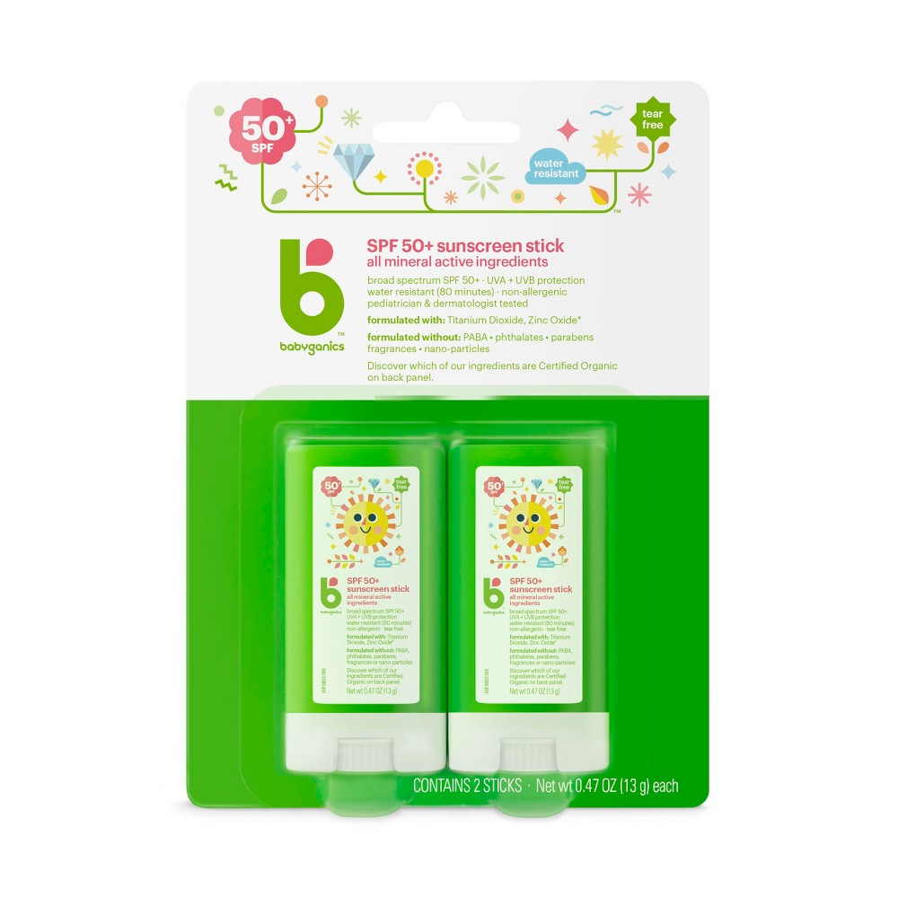 Image of Babyganics Mineral Sunscreen Stick - SPF 50 - 2ct