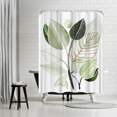 """Americanflat Forest Bouquet by Modern Tropical 71"""" x 74"""" Shower Curtain"""