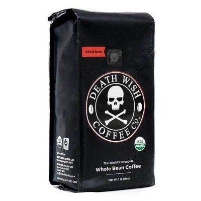 Death Wish Dark Roast Ground Coffee - 16oz