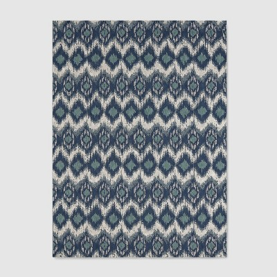 Ikat Outdoor Rug Blue - Threshold™