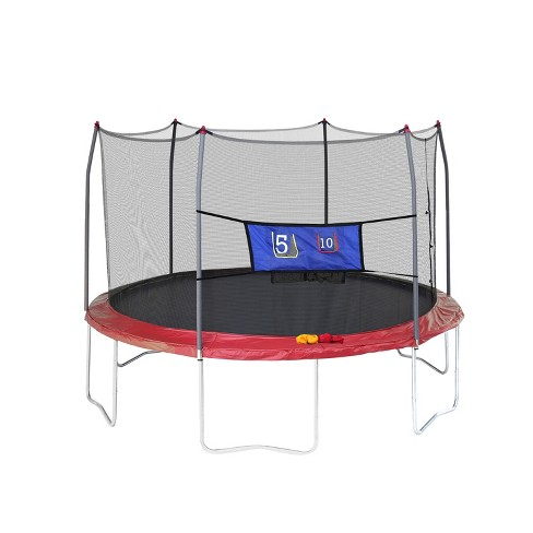 Skywalker Trampolines 12' Round Jump-N-Toss Trampoline with Enclosure - Red - image 1 of 9
