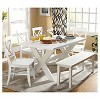 Sumner Dining Set with Bench White 6 Piece - TMS - image 2 of 2