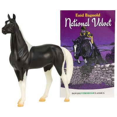 Breyer 6180 National Velvet Horse Book Set and The Piebald Toy 1:12 Scale Model, Black and White