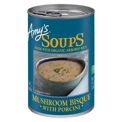 Amy's Soups Mushroom Bisque with Porcini Made with Organic Rice 14oz
