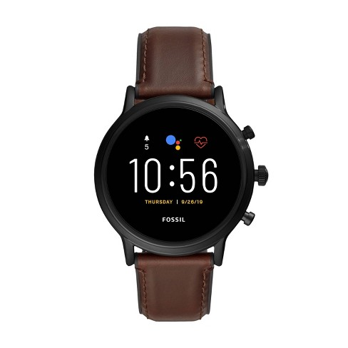 Fossil Gen 5 Smartwatch Carlyle HR 44mm - Black with Brown Leather - image 1 of 4