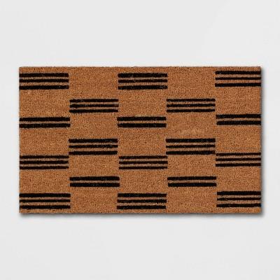 Door Mat Broken Stripe Black/Beige - Project 62™