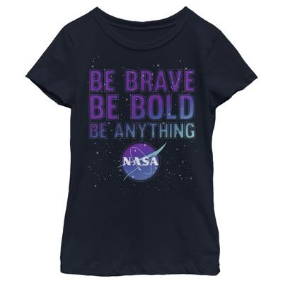 Girl's NASA Be Be Bold Be Anything Logo T-Shirt