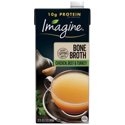 Imagine Chicken, Beef & Turkey Broth - 32floz