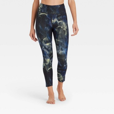 Women's High-Rise Printed 7/8 Leggings - JoyLab™ Galaxy Print