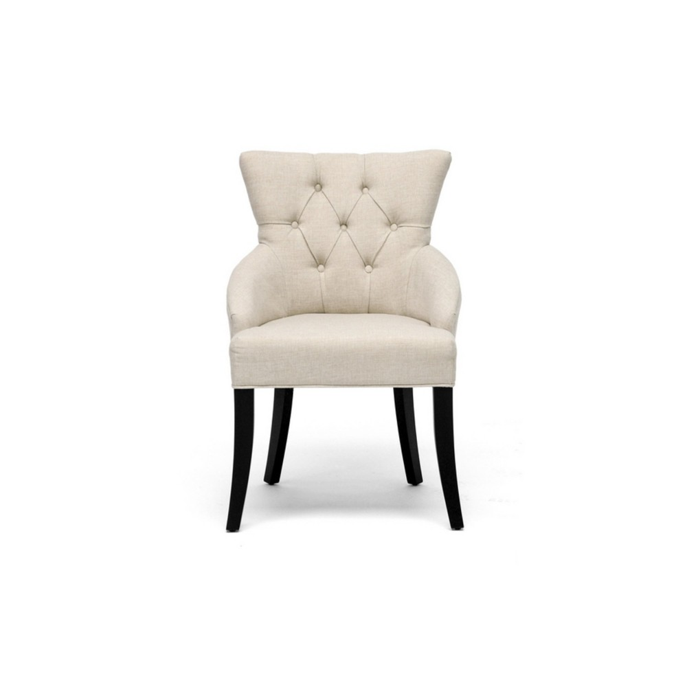 Halifax Linen Dining Chair - Beige (Set Of 2) - Baxton Studio