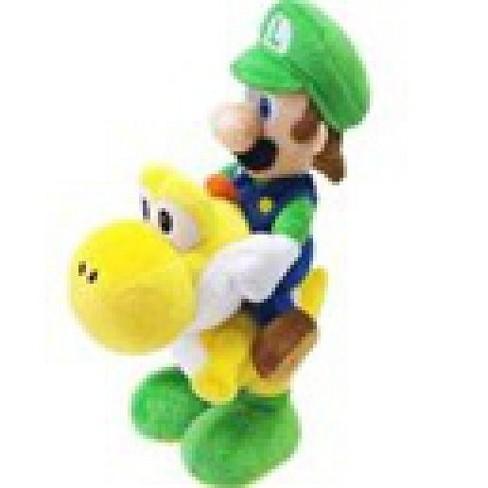 Super Mario Bros Luigi 8 Inch Plush Riding Yellow Yoshi Target