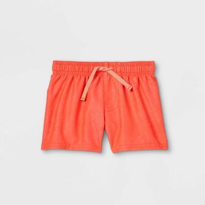 Baby Boys' Solid Swim Shorts - Cat & Jack™ Neon Orange