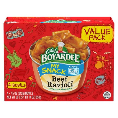Chef Boyardee Beef Ravioli 7.5oz - 30oz/4ct