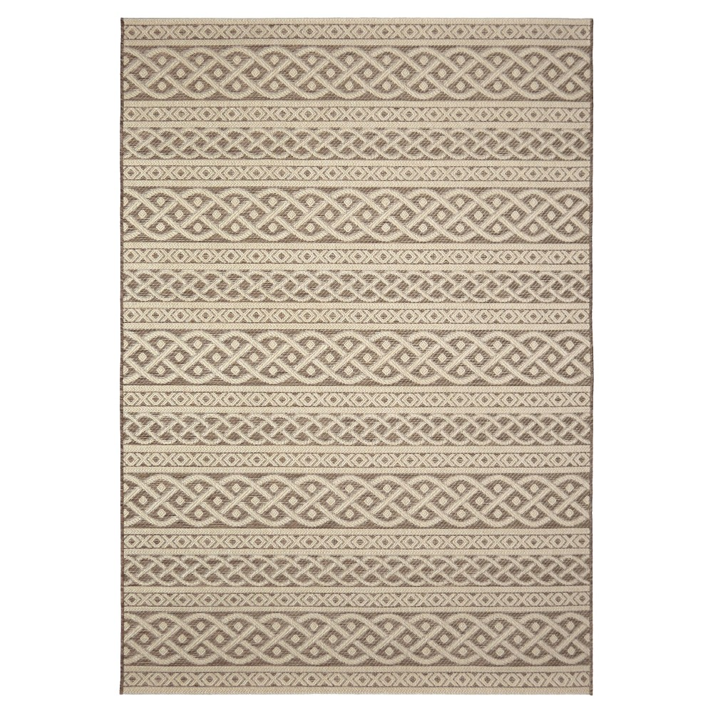 Orian Rugs Jersey Home Collection Indoor/Outdoor Organic Cable Area Rug, Brown