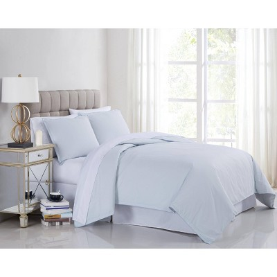 Charisma Full/Queen 400TC Percale Duvet Set Blue