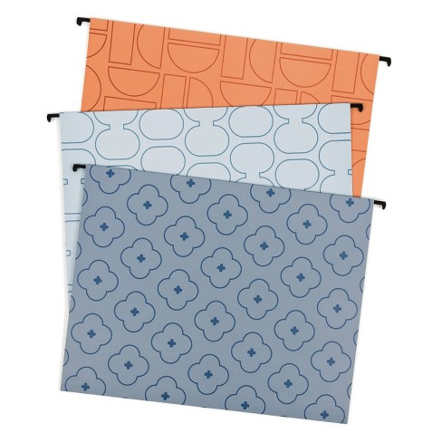 U-Brands 6ct Hanging File Folders - Abstract Terracotta - image 1 of 4