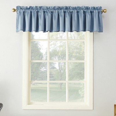 Seymour Energy Efficient Rod Pocket Curtain Valance Vintage Blue 54 x18  - Sun Zero