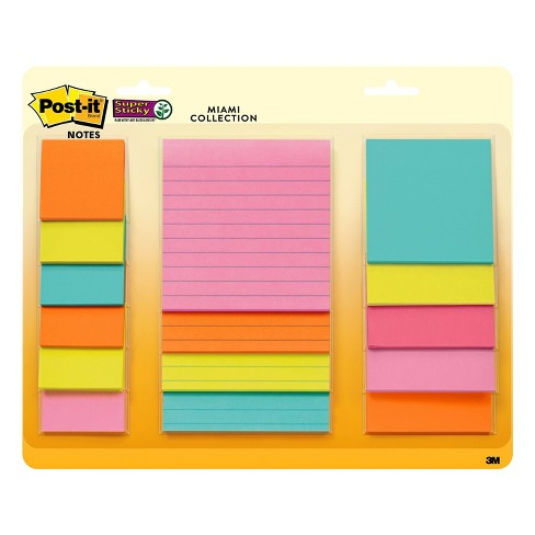Post-it 15ct Super Sticky Notes Pack  - Miami Collection - image 1 of 4
