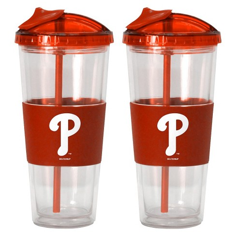 Boelter Brands MLB Philadelphia Phillies Set of 2 No Spill Straw Tumbler - 22oz - image 1 of 1