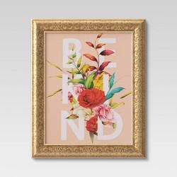 "16""x20"" Be Kind Flowers Framed Wall Canvas  - Opalhouse™"