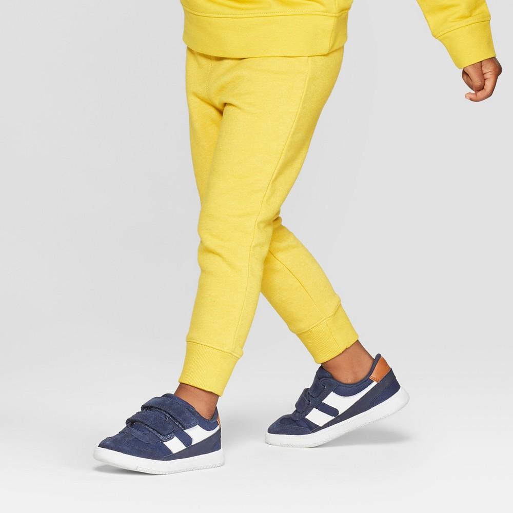 Toddler Boys' Fleece Jogger Pants - Cat & Jack Yellow 12M