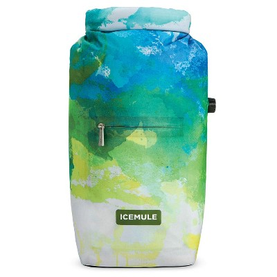 IceMule 1007-DD Jaunt Small Collapsible Portable Soft Sided Roll Top 9 Liter 6 Can Lightweight Insulated Waterproof Leak Proof Backpack Cooler Bag
