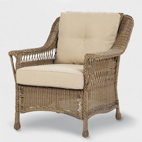 Brown Wicker Patio Furniture.Cambridge 4pc All Weather Wicker Patio Conversation Set Brown Threshold
