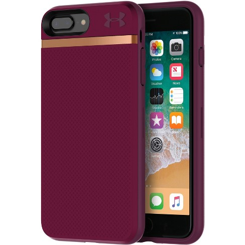 low priced a256a 0717e Under Armour iPhone 8 Plus/7 Plus Case UA Stash - Maroon/Currant/Rose Gold