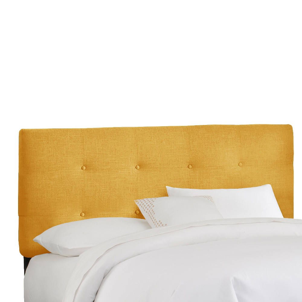 King Dolce Headboard Yellow Linen - Cloth & Co.