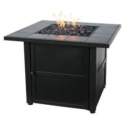 """31.5"""" Uniflame Slate Tile LP Gas Fire Pit"""